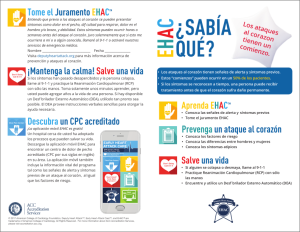 EHAC Brochure (Spanish Version) 2017 - Front Page