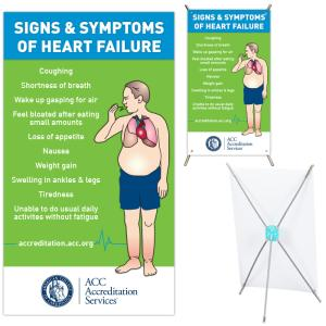 Signs & Symptoms of Heart Failure, Mini X Banner - Signs Symptoms Heart FailureMini-X Display